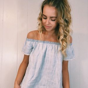 American Eagle Outfitters Tops - Off The Shoulder Tee!!